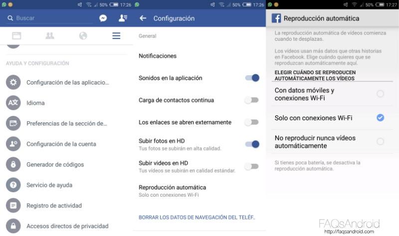 Cómo ahorrar datos en Facebook para Android