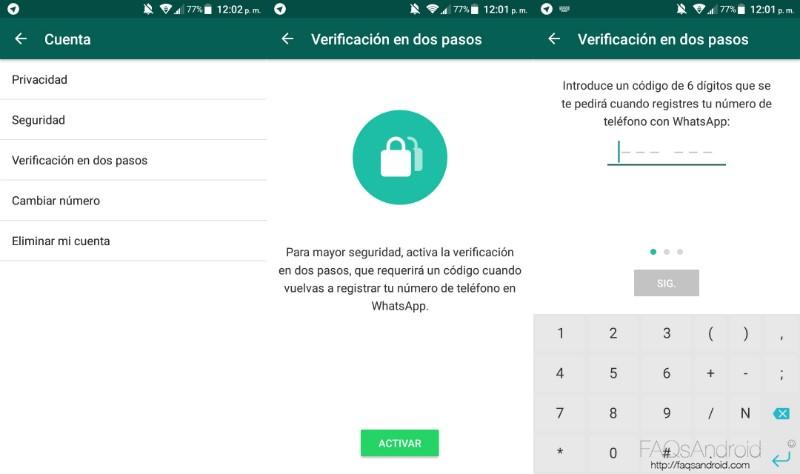 Qué es y cómo funciona la verificación en dos pasos de WhatsApp