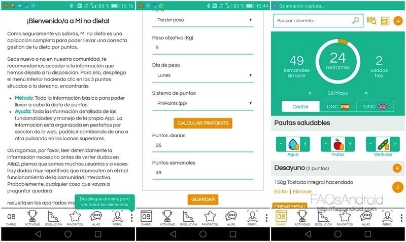 Mi no dieta: app para hacer dieta sin restricciones de alimentos