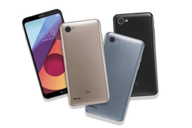 LG Q6, LG Q6α y LG Q6+